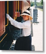 Traveling By Train Metal Print
