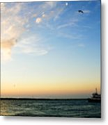 Travels At Sunset Metal Print