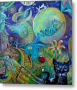 Travels With A Snail Metal Print