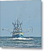 Trawler Homeward Bound Metal Print