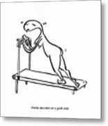 Treadmill Metal Print