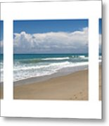 Treasure Coast Beach Florida Seascape C4 Triptych 2 Metal Print