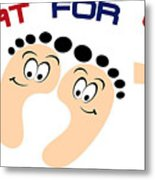Treat For Your Feet Metal Print