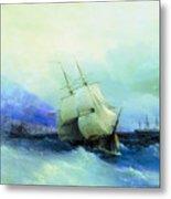 Trebizond From The Sea 1875 61h94 Ivan Konstantinovich Aivazovsky Metal Print