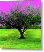 Tree And Color Metal Print