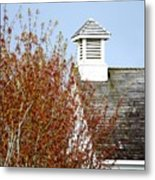 Tree And School House 795 Metal Print