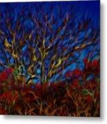 Tree Glow In The Dark Metal Print