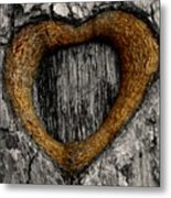 Tree Graffiti Heart Metal Print