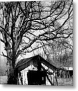 Tree-hut Metal Print