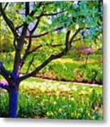 Tree In Spring Metal Print