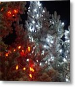 Tree Lights Metal Print