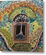 Tree-moon-fish Metal Print
