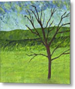 Tree No Leaves Metal Print