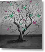 Tree Of Butterflies  Metal Print