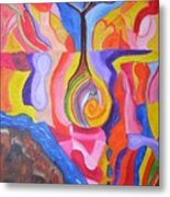 Tree Of Color Metal Print