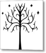Tree Of Gondor Crest Metal Print