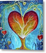 Tree Of Hearts Metal Print