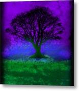Tree Of Life - Purple Sky Metal Print