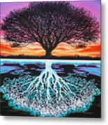 Tree Of Life And Negative Metal Print by Brian Schuster