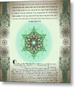 tree of life ketubah-Reformed and Interfaith version Metal Print