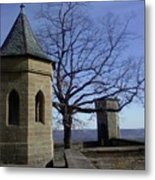 Tree On The Castle Wall Metal Print