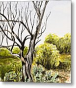 Tree Painting Metal Print