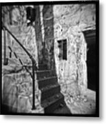 Tree Shadow , Doors And Stairs At The Elder Battery At Fort Delaware Metal Print