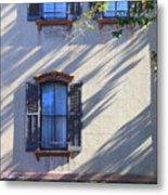 Tree Shadows On Savannah House Metal Print
