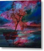 Tree Splat Fragmented Metal Print