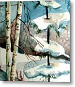 Tree Talkers Metal Print by Mindy Newman