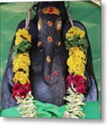 Tree Temple Ganesha, Valparai Metal Print