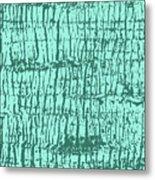 Tree Texture Turquoise Metal Print