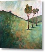 Tree Trio Metal Print