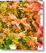 Tree With Autumn Leaves Metal Print