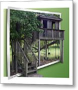 Treehouse Playground Metal Print