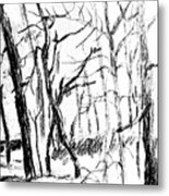 Trees At My House Metal Print