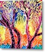 Trees In Summer Metal Print