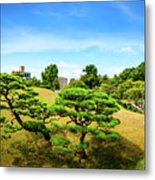 Trees In The City Metal Print
