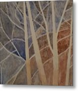 Trees In The Dead Of Winter Metal Print