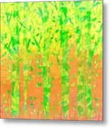 Trees in the Grass Metal Print