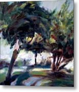 Trees In The Wind Metal Print