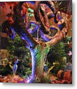 Trees Of Bellagio Metal Print