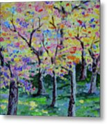 Trees On Hideaway Ct Metal Print