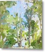 Trees On Ski Island, Banana River, Cape Canaveral, Fl. Metal Print