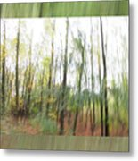 Trees On The Move Metal Print