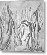 Trees Shelter Metal Print