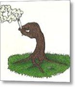 Trees Smokin' Trees Metal Print