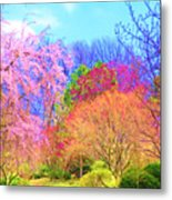 Trees With Color Metal Print