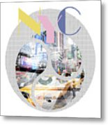 Trendy Design New York City Geometric Mix No 1 Metal Print by Melanie Viola