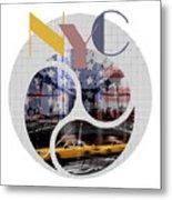 Trendy Design New York City Geometric Mix No 2 Metal Print